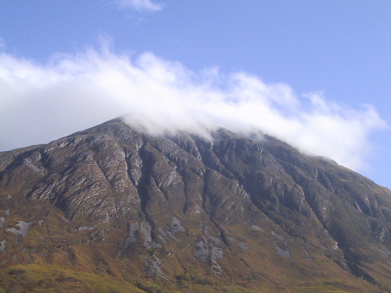 mist covered mountain