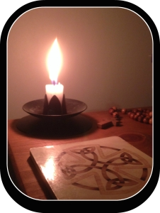 candle a cross with frame