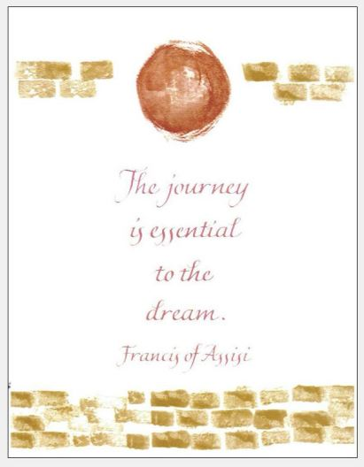 Card the Journey Francis of Assisi