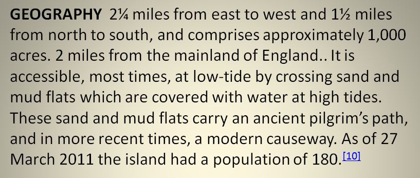 Information about Holy Island iii
