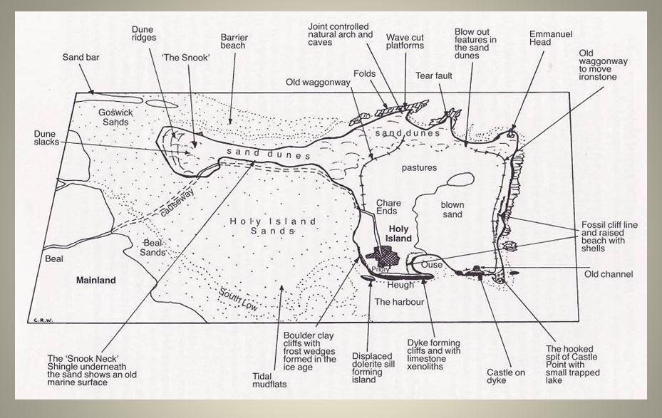Map Holy Island