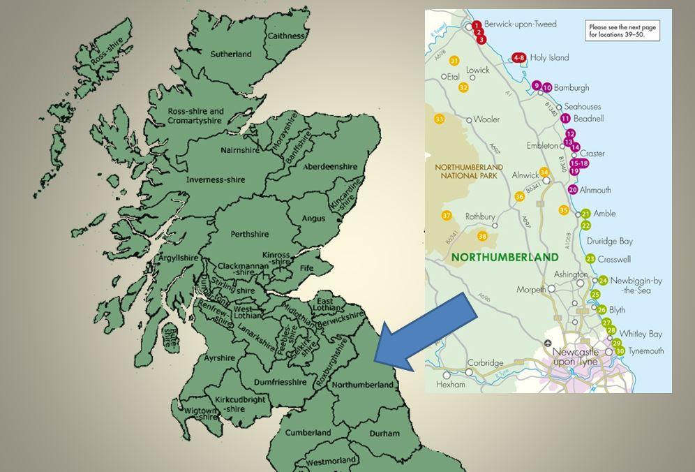 Northumberland map