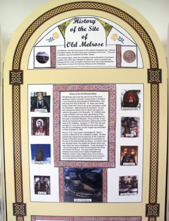 History of the site of old melrose
