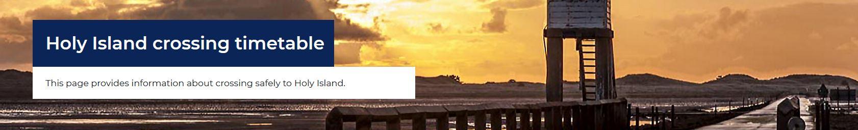 Holy Island tide table