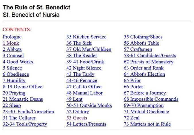 Rules St Benedict