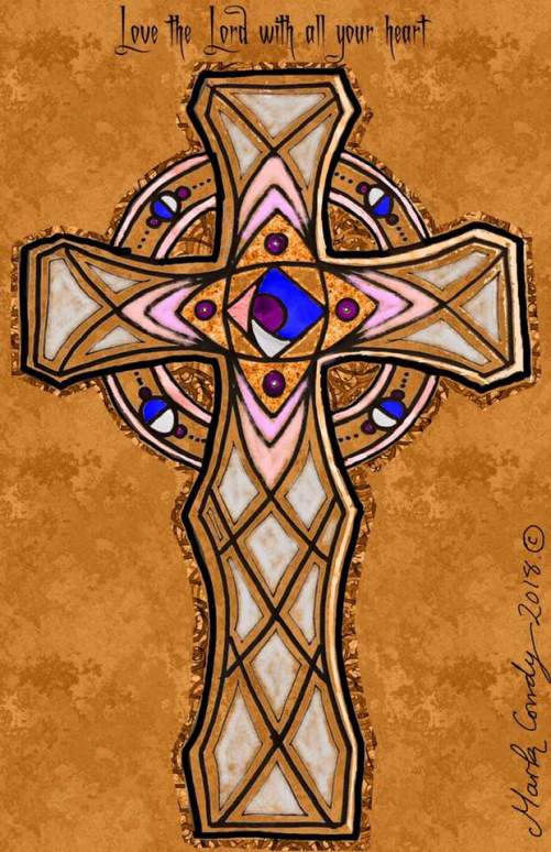 Marks CEltic Cross Love the Lord