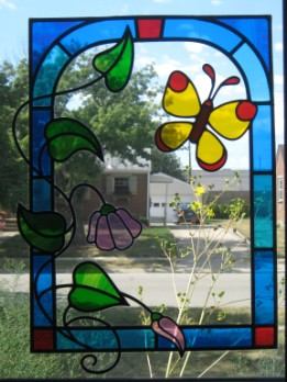Stained Glass with butterfly